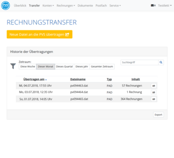 PVSconnect - sicherer Dateitransfer mit Historie
