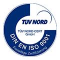 Logo/Siegel DIN EN ISO 9001:2008 Zertifizierung