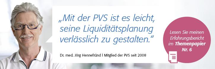 "Themenpapier Nr. 6 ""Liquidität"", Dr. med. Jörg Hennefründ (Oldenburg)"