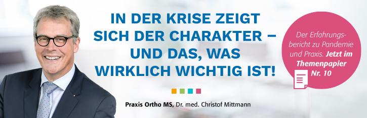 """Themenpapier Nr. 10 """"Betreuung auf allen Ebenen"""", Vorstandsvorsitzender des PVS Verbands Dr. med. Christof Mittmann"""