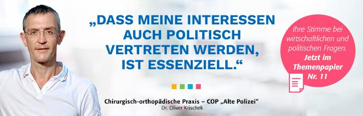 Themenpapier Nr. 11 - Ihre Interessen im Blick, ob in der Praxis oder im politischen Berlin